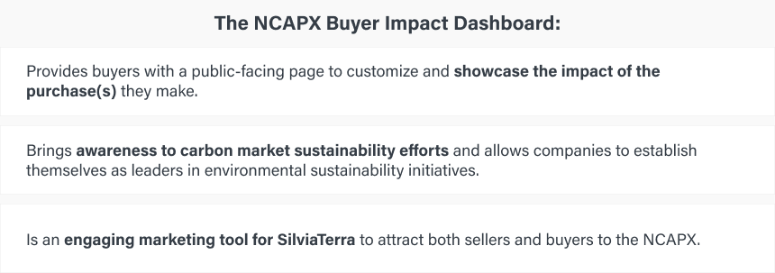 Value Add of NCAPX Buyer Impact Dashboard