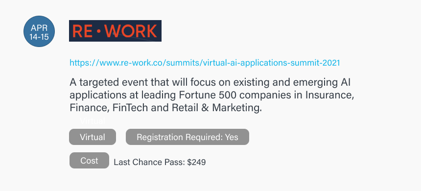 Rework AI Applications 2021