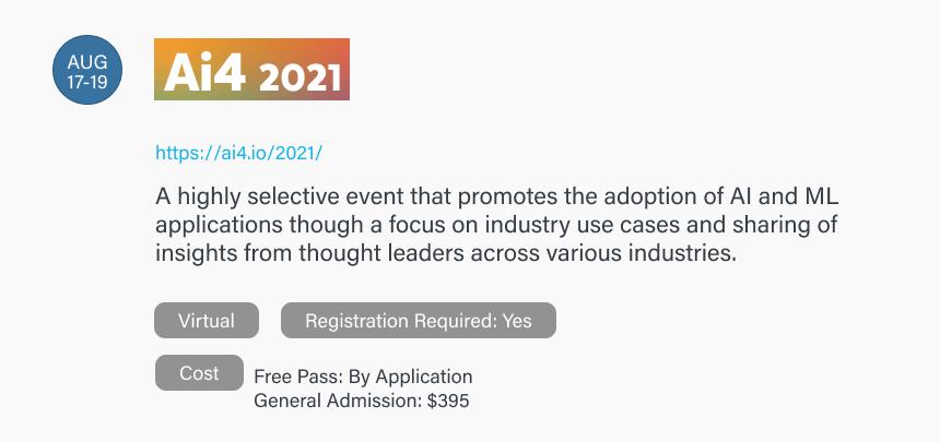 Ai4 2021