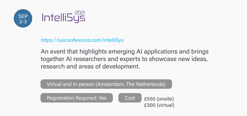 Intelligent Systems Conference (IntelliSys) 2021