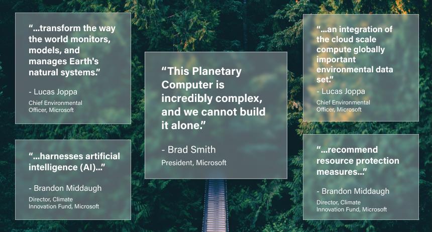 Microsoft Executives Planetery Computer Quotes