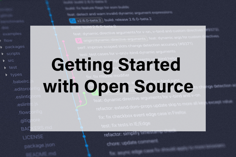 Getting started with open source blog
